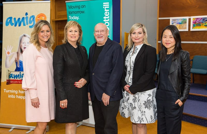 Toni Street, Heather McRae, Sir Ray Avery, Vanessa Sorenson and Lisa King at Amigo Bar Launch Event