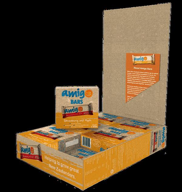 A box of Amigo Bars